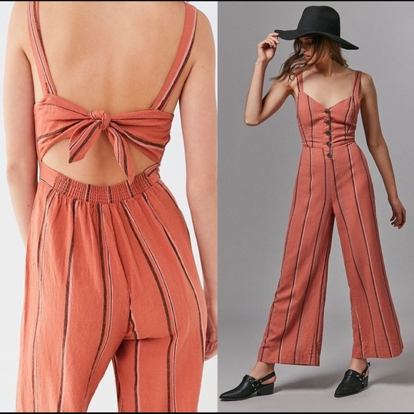 Urban Outfitters Pants - NWT UO Ashley Button-down Tie-back Jumpsuit